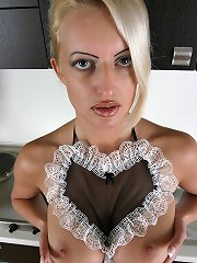 Perfect boobs Arabela housewife in stockings