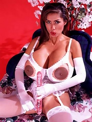 54KKK Asian Legend Minka doubles her pleasure with two dildos